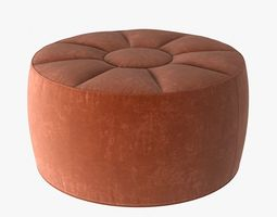 custom made round pouf 3D