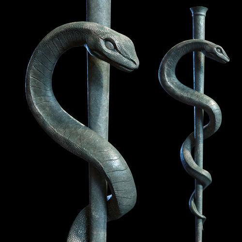 Medical symbol Asclepius