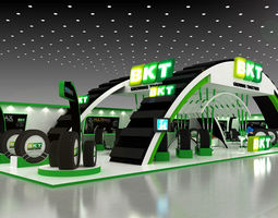 3D model 28x10Mtr Exhibition stand