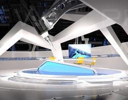 3D Virtual Broadcast Studio 09