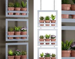 Hanging pots 132 3D
