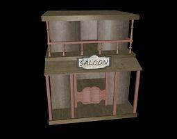 Western Saloon 3D asset