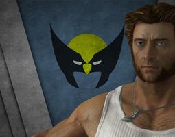 Hugh Jackman Wolverine 3D asset