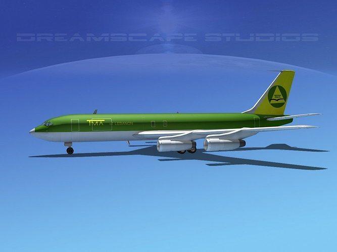 boeing 707 lebanon 3d model max obj mtl 3ds lwo lw lws dxf stl 1