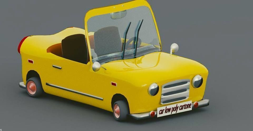 3d Model Amazing Low Poly Cartoon Car Cgtrader