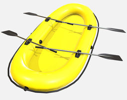 Low Poly PBR Inflatable Boat 3D model