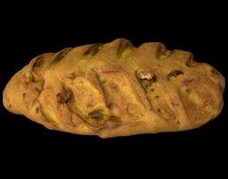 3D model VR / AR ready Wallnut Bread - PBR