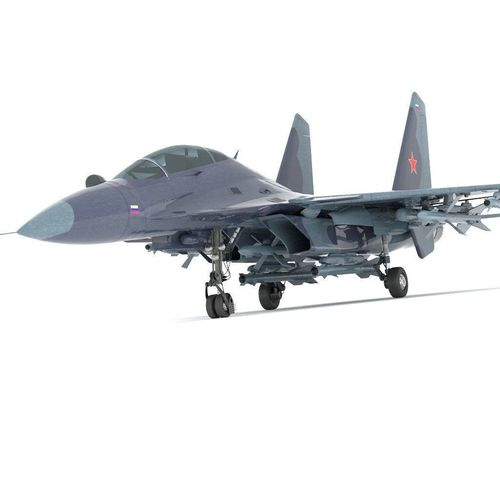 sukhoi fighter jet f15 f16 3d model rigged obj mtl fbx stl blend 1