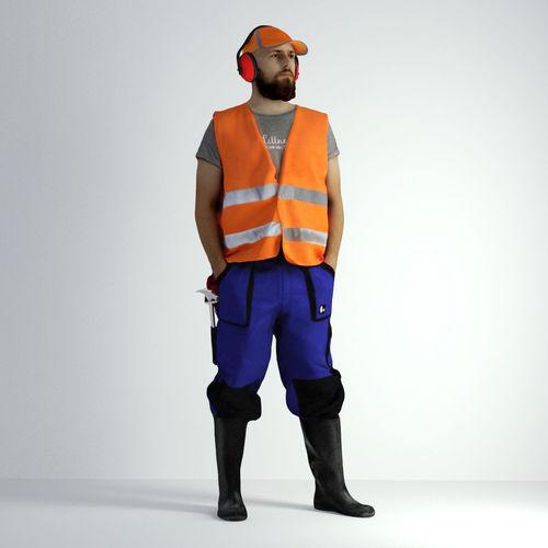3d scan man worker safety 018 3d model max obj mtl fbx 1