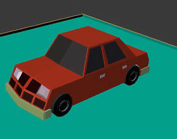 low poly car 3D model realtime other