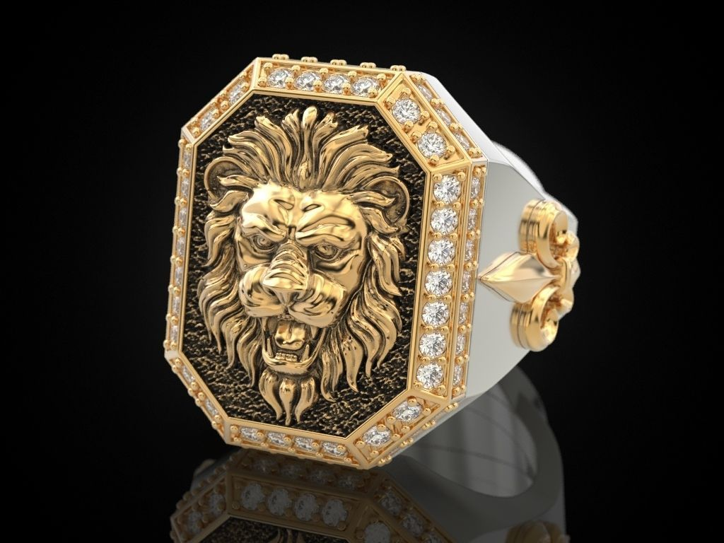 A large ring with a lion and an all-seeing eye New Ubdate