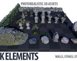 3D asset Park Elements