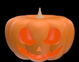 Halloween pumpkin with face for decoration 3D