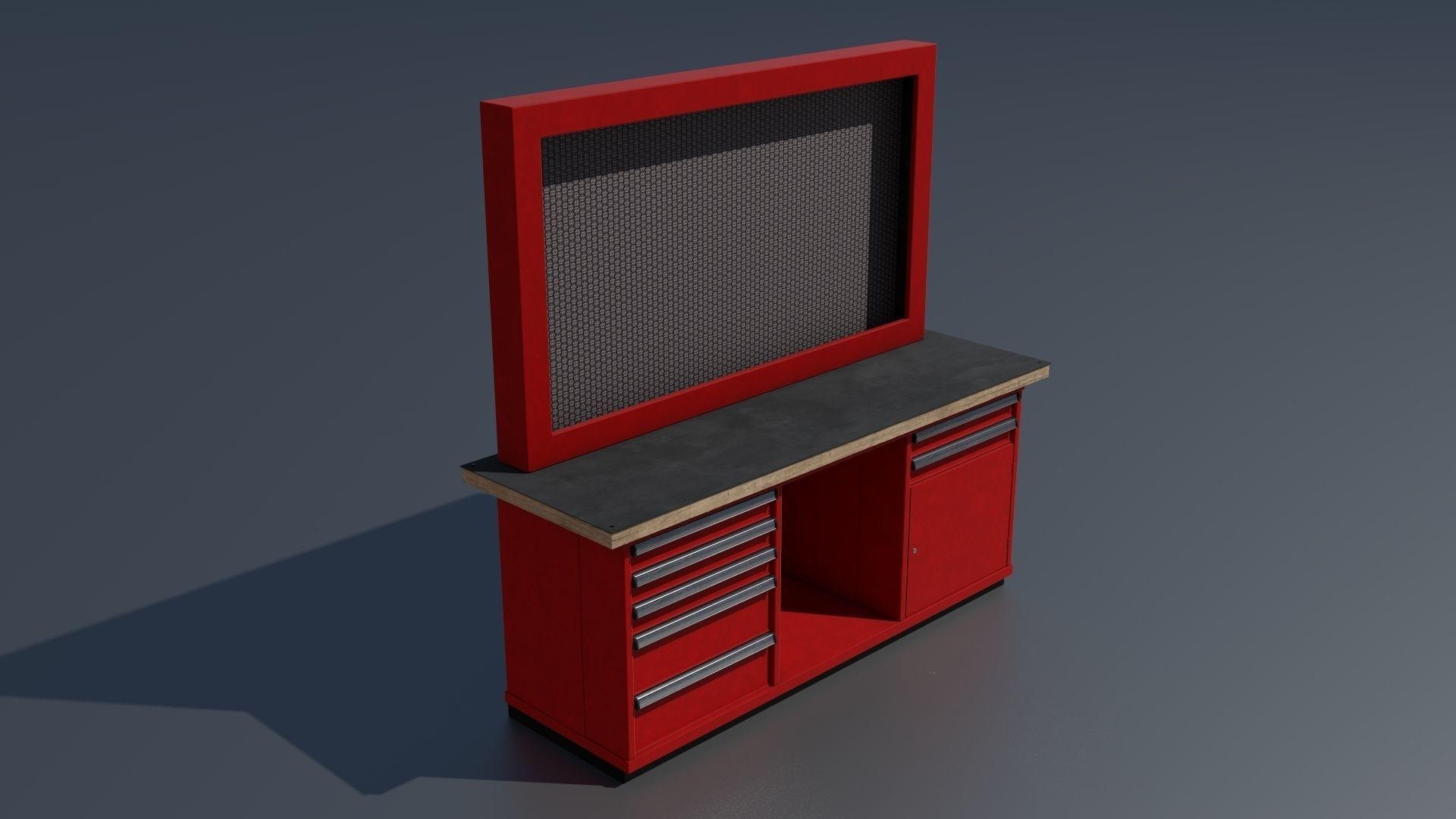 Prime Workshop Workbench 3 Pbr 3D Model Evergreenethics Interior Chair Design Evergreenethicsorg
