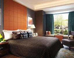 Modern luxury bedroom 3D model