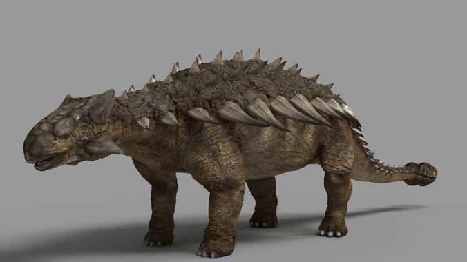 ankylosaurus 3d model max obj ztl mtl tga 1