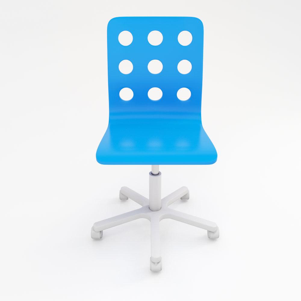 Jules Childrens Desk Chair 3d Model Max Obj 3ds Fbx 3