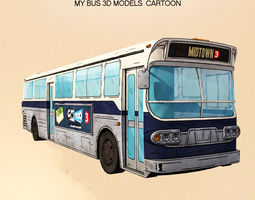 Cartoon 3D models My Classic Bus realtime