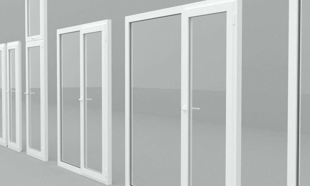 detailed metal-plastic windows and doors 3d model max obj 3ds fbx skp mtl 1 ...  sc 1 st  CGTrader & Detailed metal-plastic windows and doors 3D   CGTrader