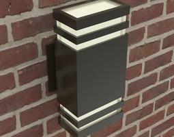 Modern wall light fixture wide 3D