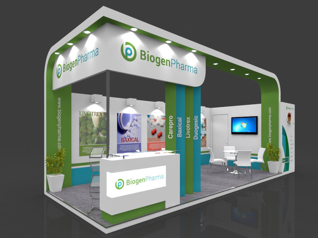 Exhibition Stand Design 3d Max : Exhibition stall d model mtr sides open