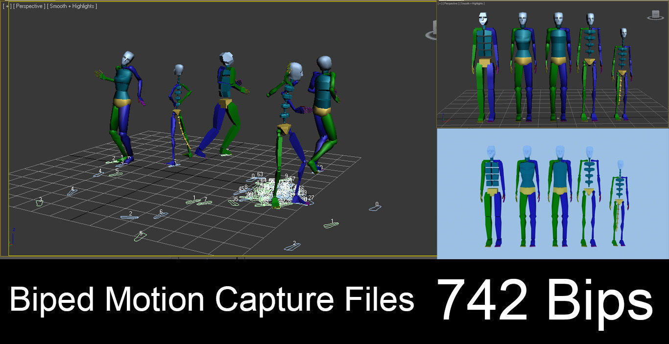 740 Motion Capture Files