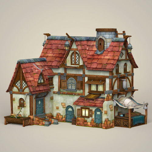 Game Ready Fantasy House 3d Asset Cgtrader