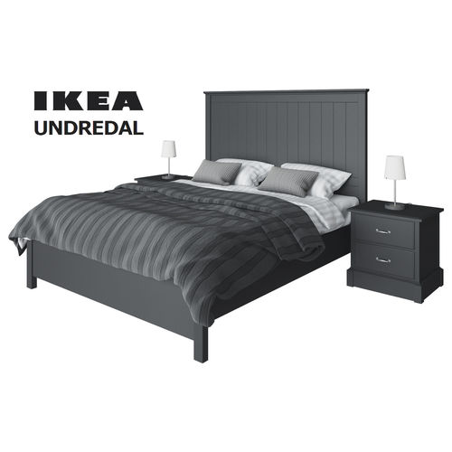 Set ikea undredal 3d model cgtrader for Ikea 3d
