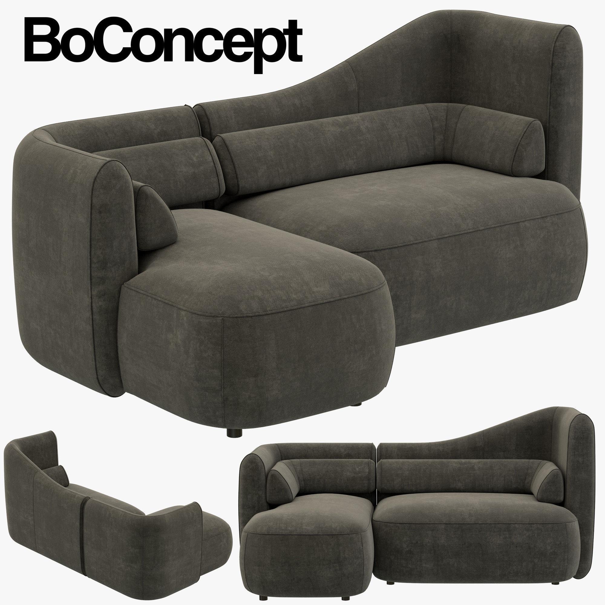 Boconcept Ottawa Sofa 3d Model Max Obj 3ds Fbx Mtl 1 ...