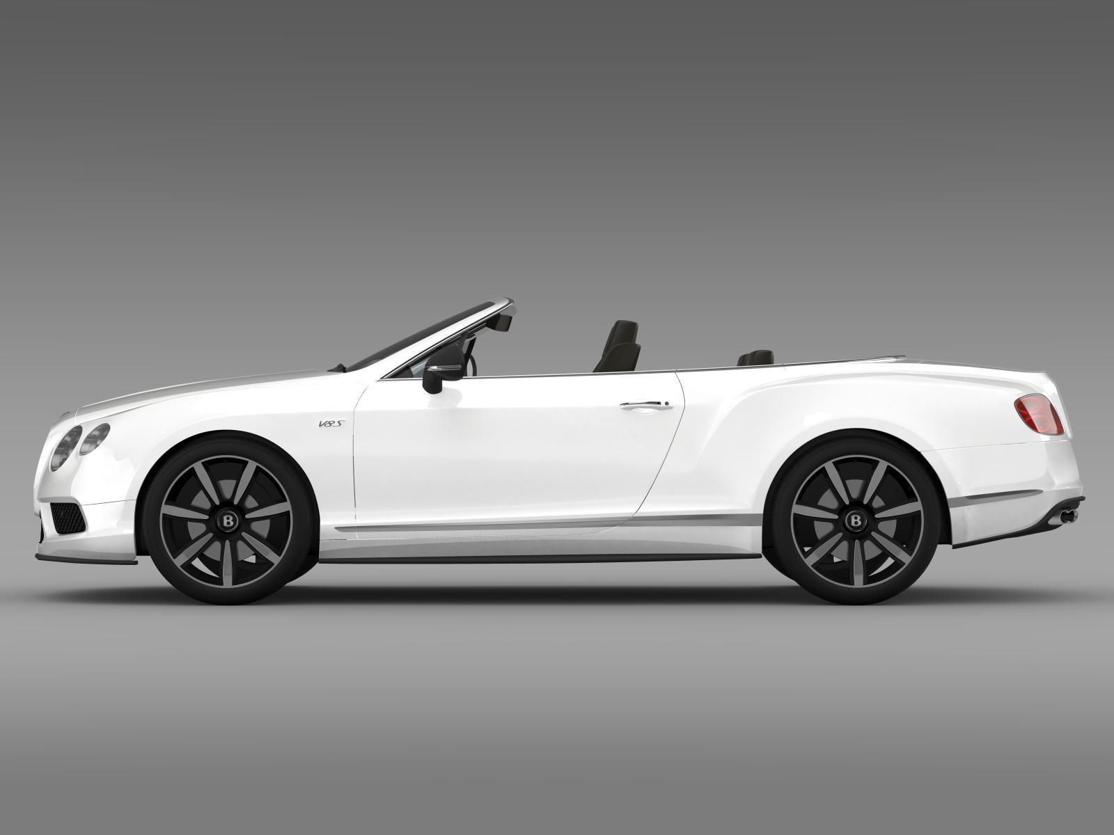 bentley continental gt v8 s convertible 2014 3d model max. Black Bedroom Furniture Sets. Home Design Ideas