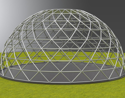 3D model Geodesic dome large dome frame structure