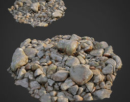realtime 3d scanned nature stone 023