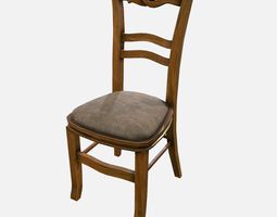 3D model low-poly Low Poly PBR Chair