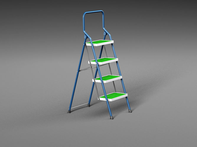 ladder 3d model max obj mtl fbx c4d 1