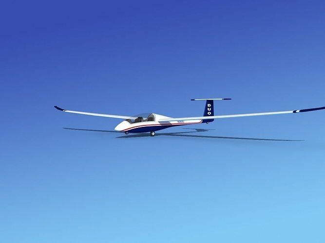 duo discus sailplane 3d model max obj mtl 3ds lwo lw lws dxf stl 1