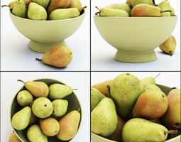 Pears in the vase 3D