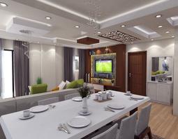 photoreal Modern living room 3D