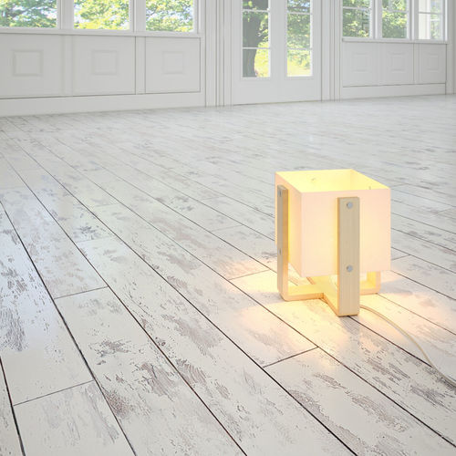 White Painted Rustic Floor 3D Model