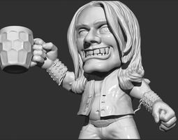 fun 3D print model the man drinks beer