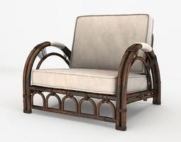 3D asset Vintage Bamboo Chair
