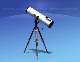 3D model 12 In Reflector Telescope
