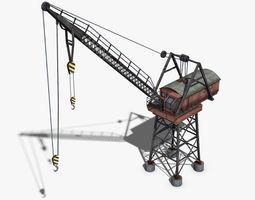 3D model realtime Dock Crane