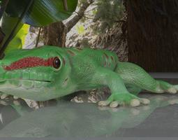 Giant Day Gecko 3D asset