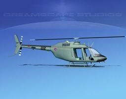 3D model Bell OH-58B Royal Thai Army