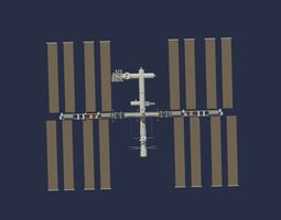 Low Poly ISS Model low-poly