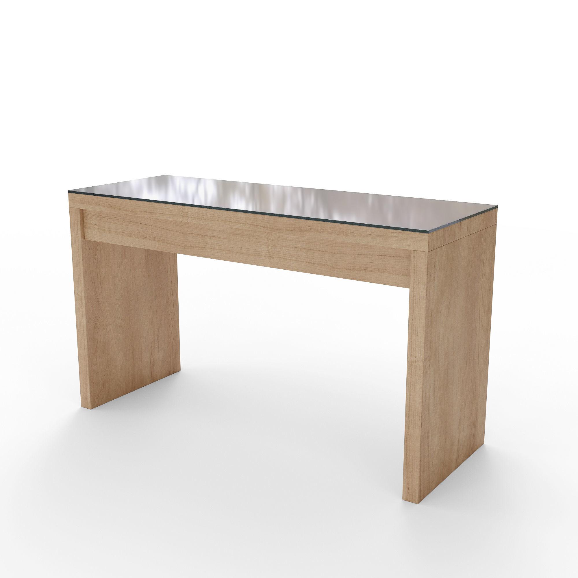 Minimal Style Dressing Table Malm 3d Model Obj 3ds Fbx Dae Mtl ...
