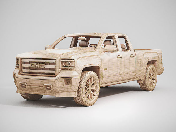 3d Model 2014 Gmc Sierra 1500 Double Cab Cgtrader