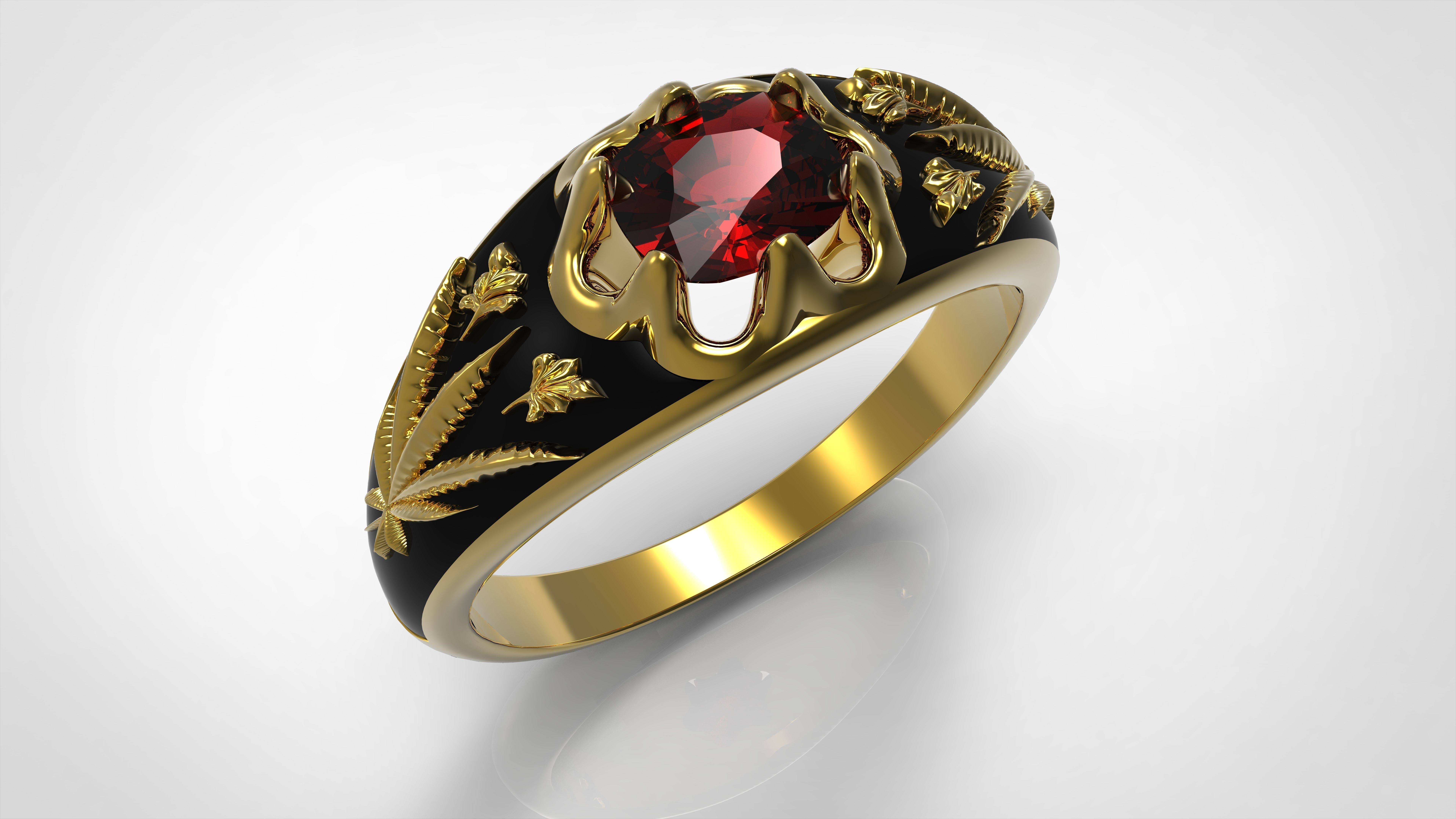 Well-liked Mens Ruby Ring 3D print model | CGTrader QS27