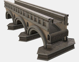Low Poly PBR Modular Bridge 3D model