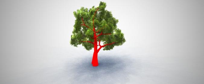 oak tree 3d model low-poly max obj mtl 3ds fbx ma mb dae 1
